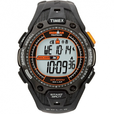 Мужские часы Timex IRONMAN Triathlon 50Lp Shock Solar Tx5j641