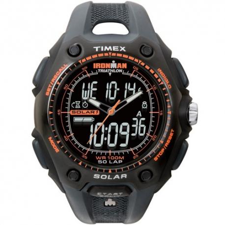 Мужские часы Timex IRONMAN Triathlon 50Lp Shock Solar Dual Tx5g691